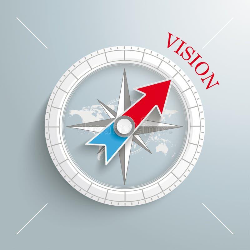 Kompasvisie royalty-vrije illustratie