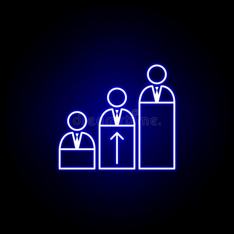 Kompetens expertis, arbetarsymbol Best?ndsdelar av personalresursillustrationen i neonstilsymbol Tecknet och symboler kan anv?nda stock illustrationer