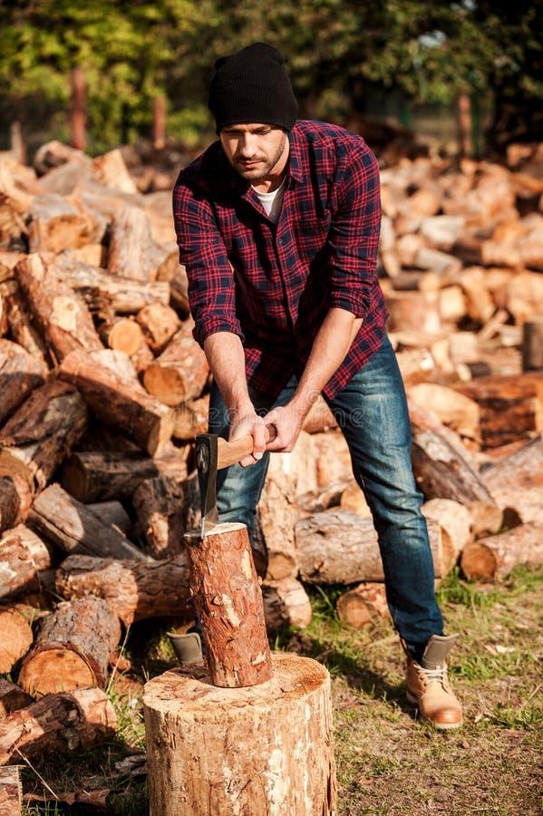 Kompetent skogvaktare fotografering för bildbyråer