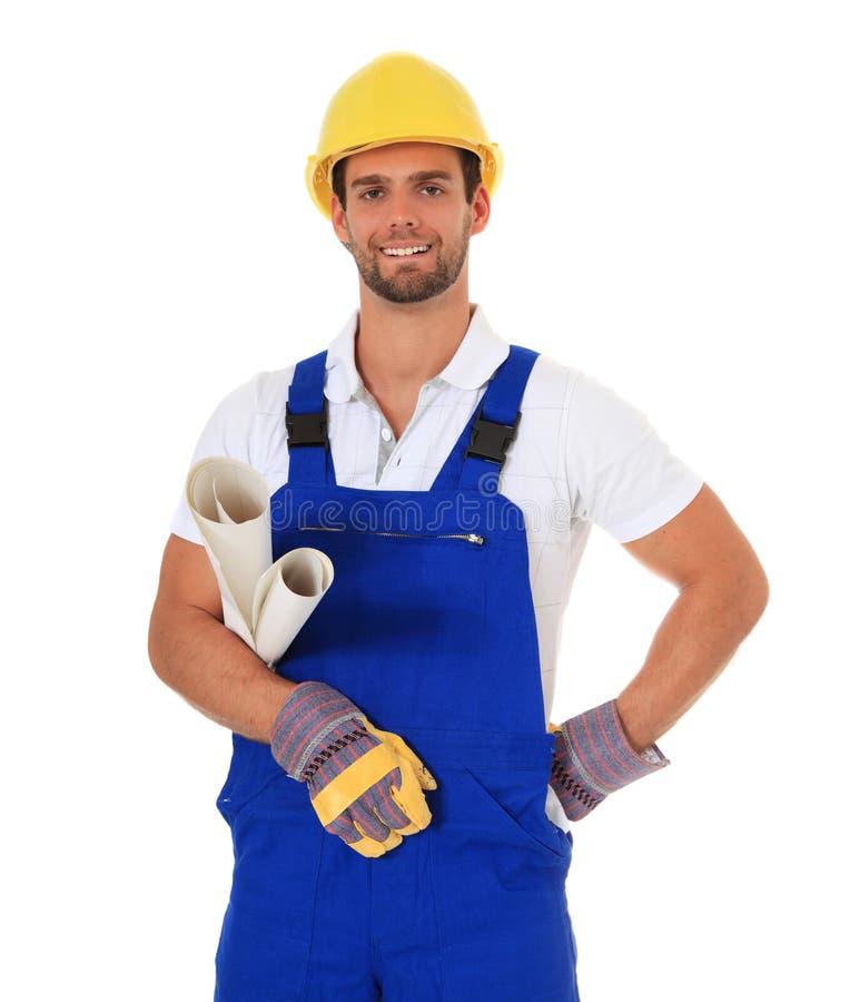 Kompetentny ręczny pracownik zdjęcia royalty free