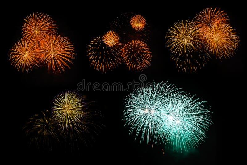 Kompilation der Feuerwerke lizenzfreie abbildung