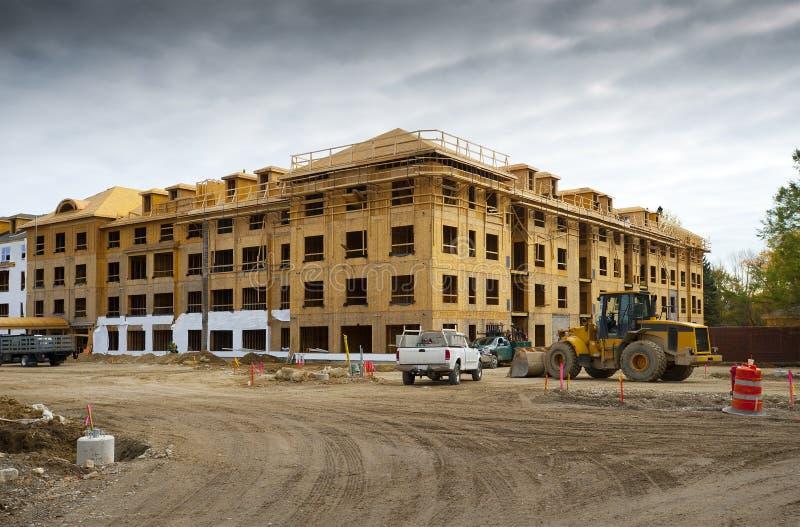kompleks apartamentów budowa obraz royalty free