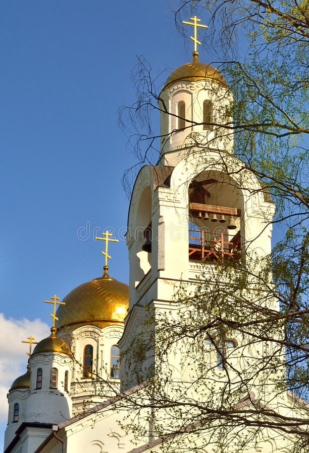 Kompleks Ortodoksalni kościół zdjęcia royalty free