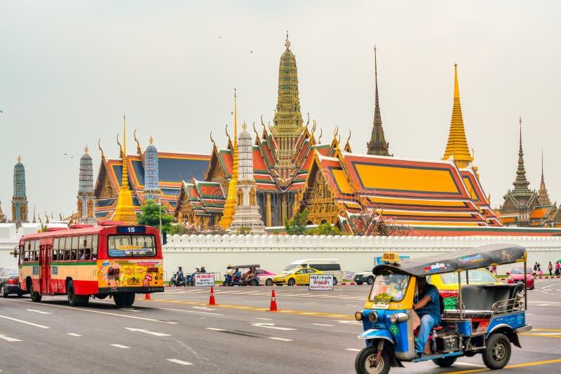 Kompleks Wat Phra Kaew i Grand Palace Bangkok, Thailandia zdjęcie stock