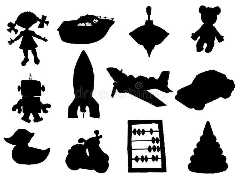 komplet zabawek royalty ilustracja