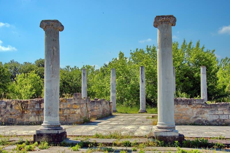 Komplex Abritus de Peristyl en la actual ciudad Razgrad fotos de archivo libres de regalías