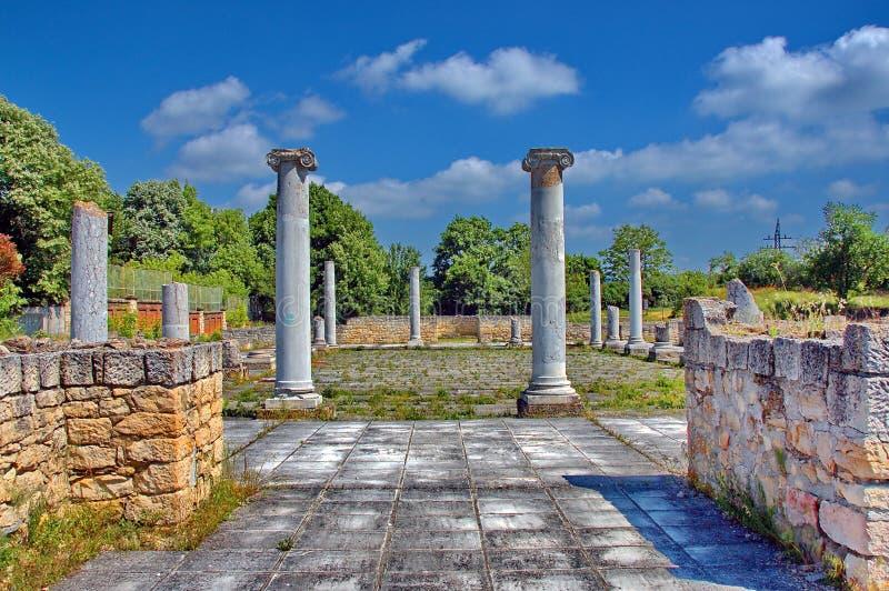 Komplex Abritus di Peristyl in città attuale Razgrad fotografia stock