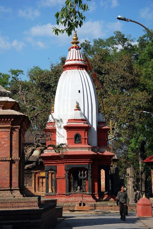 Komplex för hinduisk tempel av Pashupatinath royaltyfri bild