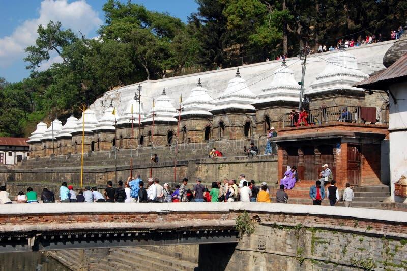 Komplex för hinduisk tempel av Pashupatinath fotografering för bildbyråer