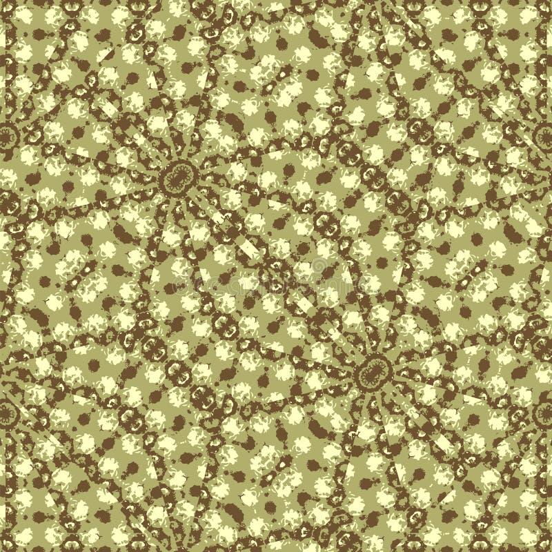 Komplex geometrisk utsmyckad sömlös mosaik royaltyfri illustrationer