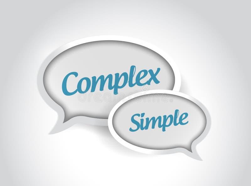 komplexa eller enkla meddelandebubblor vektor illustrationer
