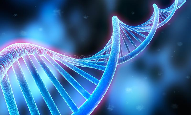Komplexe DNA - medizinische Illustration 3D lizenzfreie abbildung