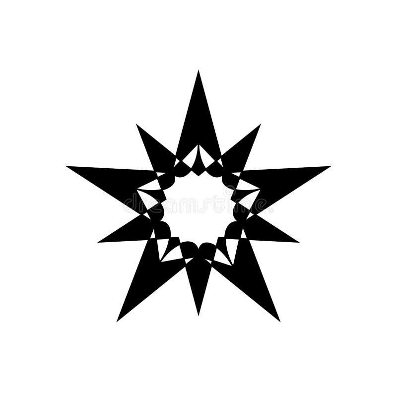 Komplexe Stern-Entwurfs-Vektor-Ikone Getrennt auf wei?em Hintergrund vektor abbildung