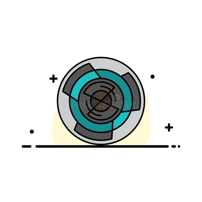 Komplexitet affär, utmaning, begrepp, labyrint, logik, mall för baner för Maze Business Flat Line Filled symbolsvektor stock illustrationer