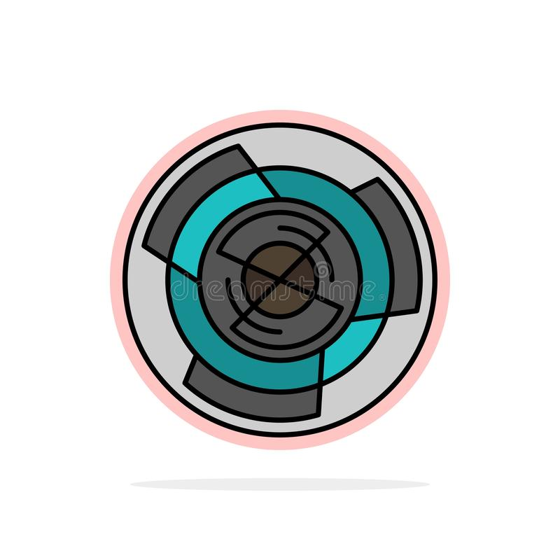 Komplexitet affär, utmaning, begrepp, labyrint, logik, Maze Abstract Circle Background Flat färgsymbol royaltyfri illustrationer