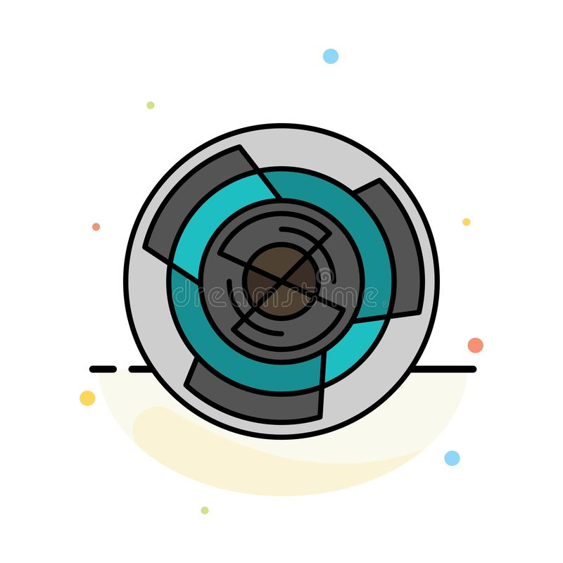 Komplexitet affär, utmaning, begrepp, labyrint, logik, Maze Abstract Flat Color Icon mall vektor illustrationer