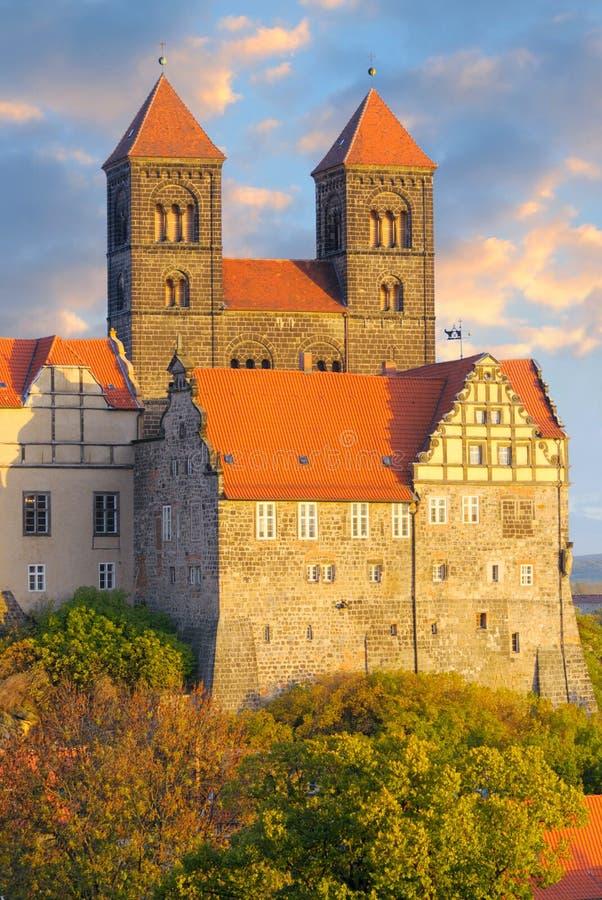 komplicerad germany för slott quedlinburg royaltyfri foto