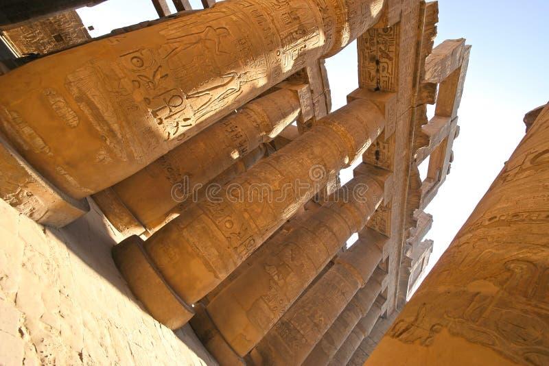komplicerat egypt karnakluxor tempel fotografering för bildbyråer