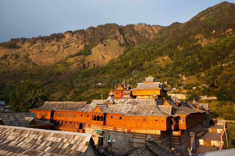 komplicerat hinduiskt taktempel för bhimakali arkivbilder