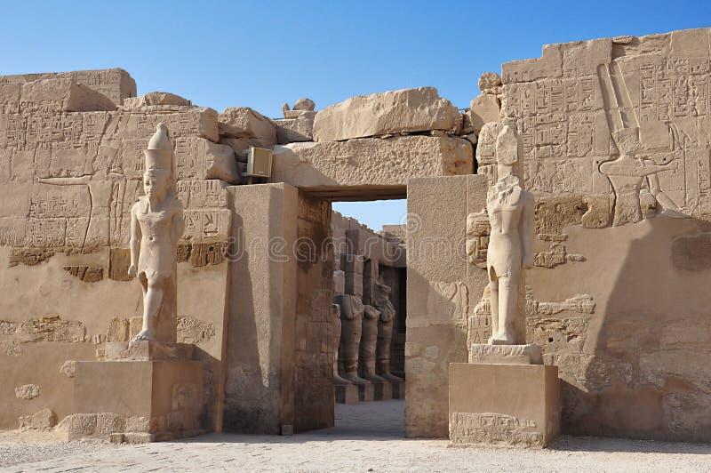 komplicerat karnaktempel Luxor övreEgypten arkivfoton
