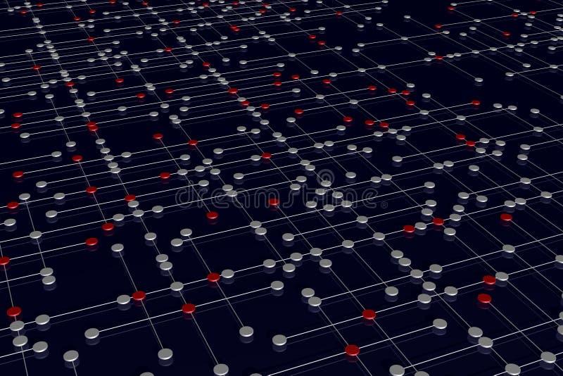 komplicerat nätverk vektor illustrationer