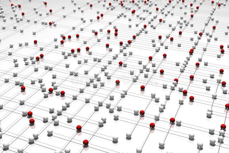 komplicerat nätverk stock illustrationer