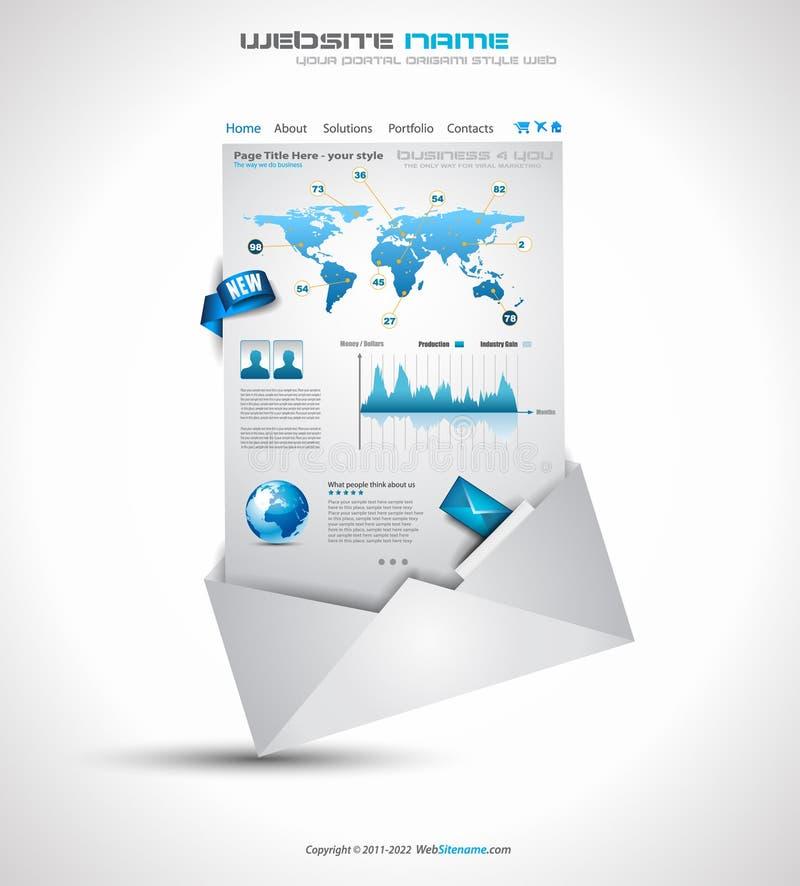 Komplizierte Origami Web site - elegante Auslegung stock abbildung