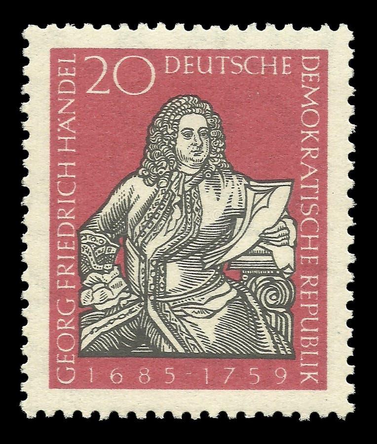 Komponisten und Musiker, Georg Friedrich Handel lizenzfreie stockbilder