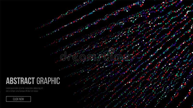 Komponujący cząsteczki abstrakcyjna projektu graficznego Nowożytny sens nauka i technika tło również zwrócić corel ilustracji wek royalty ilustracja