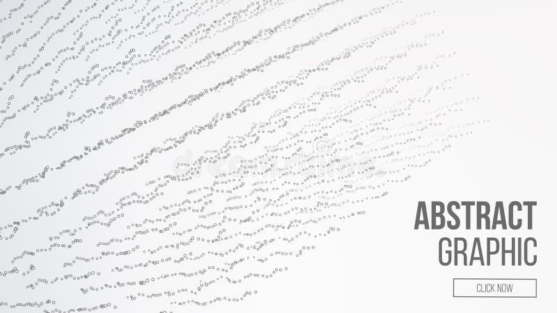 Komponujący cząsteczki abstrakcyjna projektu graficznego Nowożytny sens nauka i technika tło również zwrócić corel ilustracji wek ilustracja wektor