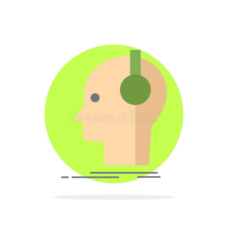 kompositör hörlurar, musiker, producent, solid plan färgsymbolsvektor stock illustrationer