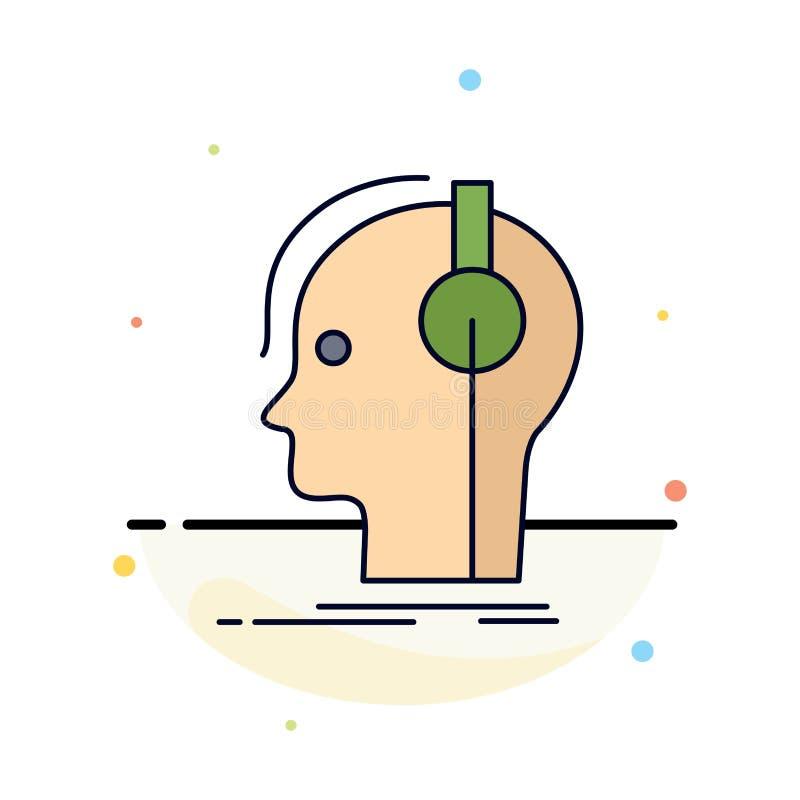 kompositör hörlurar, musiker, producent, solid plan färgsymbolsvektor vektor illustrationer