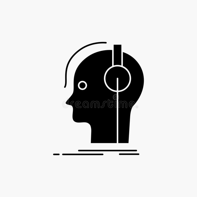 komposit?r h?rlurar, musiker, producent, solid sk?rasymbol Vektor isolerad illustration vektor illustrationer