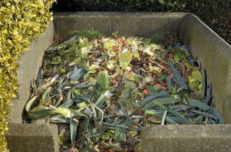 Komposthög arkivbild