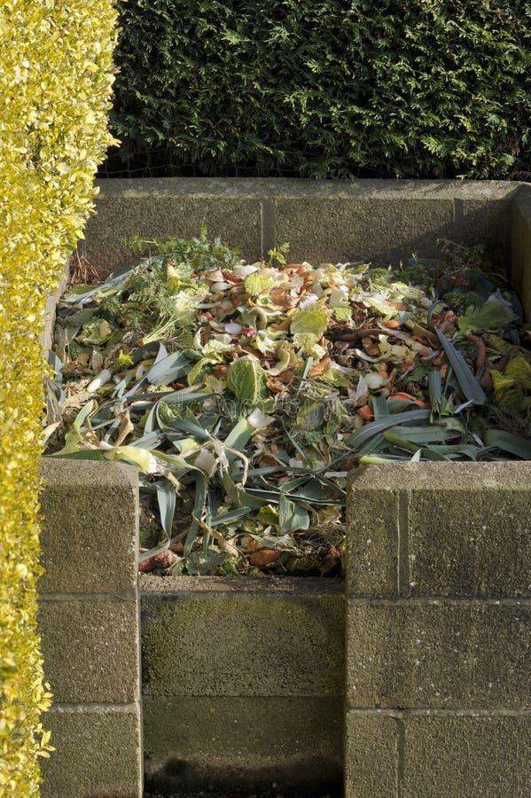 Komposthög royaltyfri foto