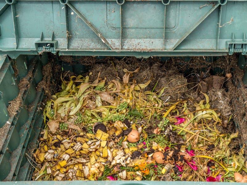 Kompostowy kosz obrazy royalty free