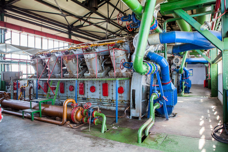 Kompresoru i poborcy maszyna w fabryce obraz royalty free