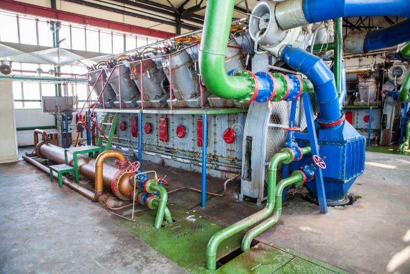 Kompresoru i poborcy maszyna w fabryce zdjęcie stock