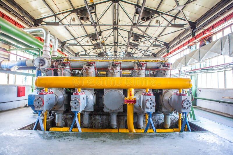 Kompresoru i poborcy maszyna w fabryce zdjęcia royalty free