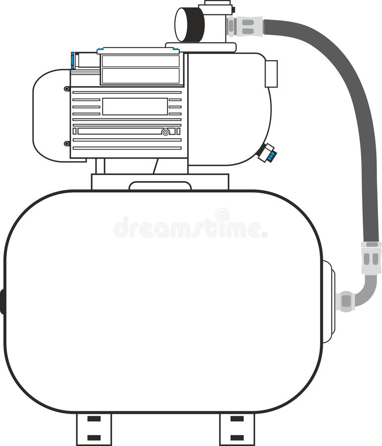 kompressor vektor illustrationer