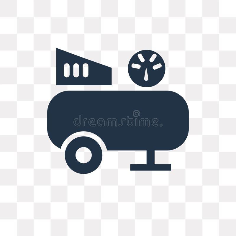 Kompressorvektorsymbol som isoleras på genomskinlig bakgrund, Compr stock illustrationer