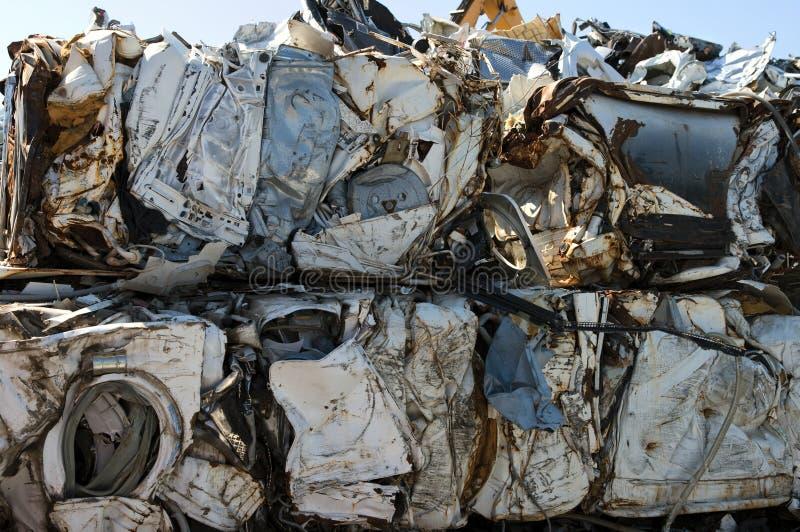 Komprimierte Waschmaschine lizenzfreies stockbild