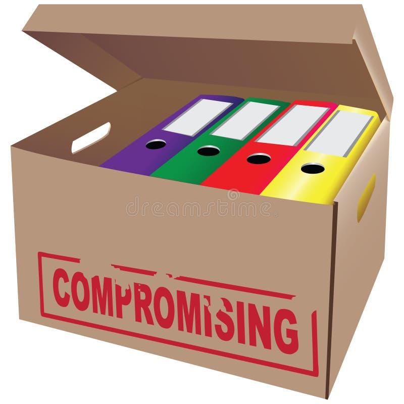 Kompromissa stock illustrationer