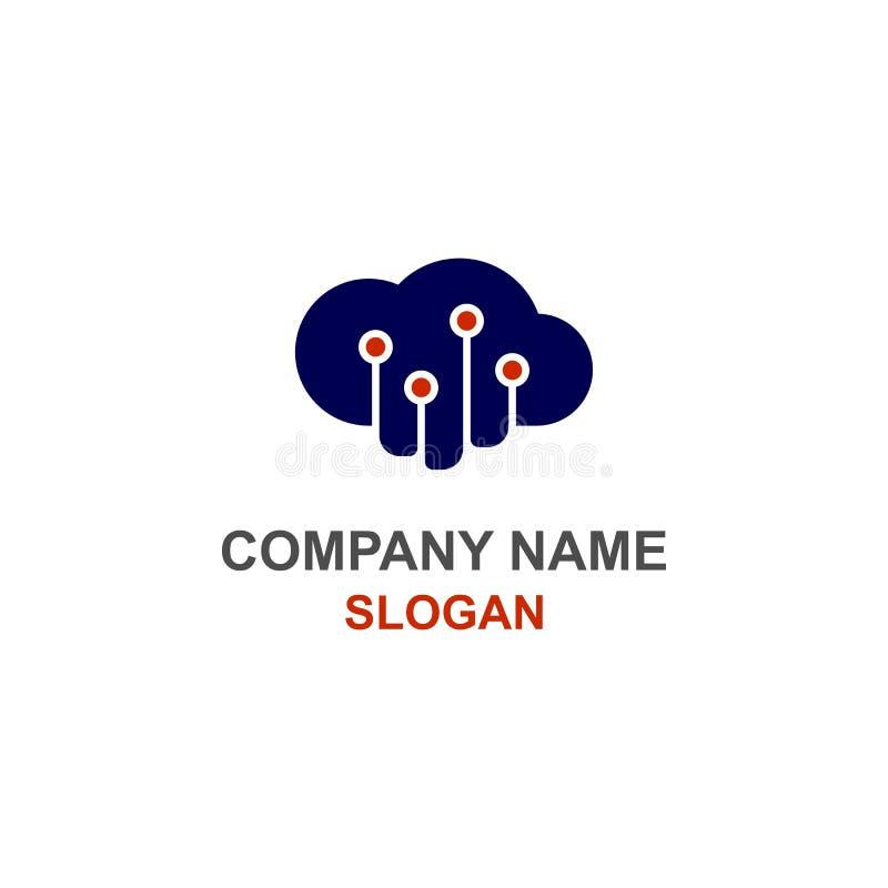 Komputerów dane obłoczny logo ilustracja wektor