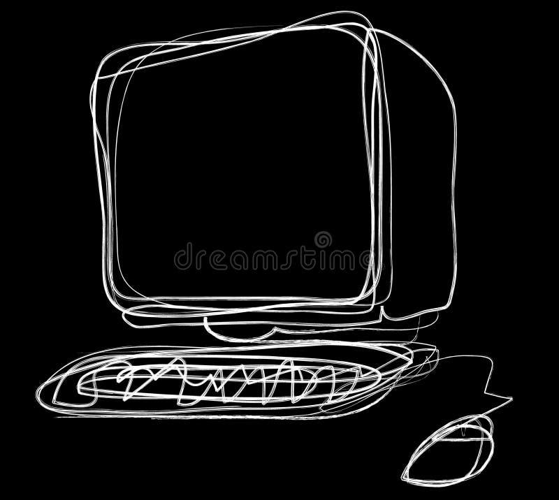 komputer. ilustracja wektor