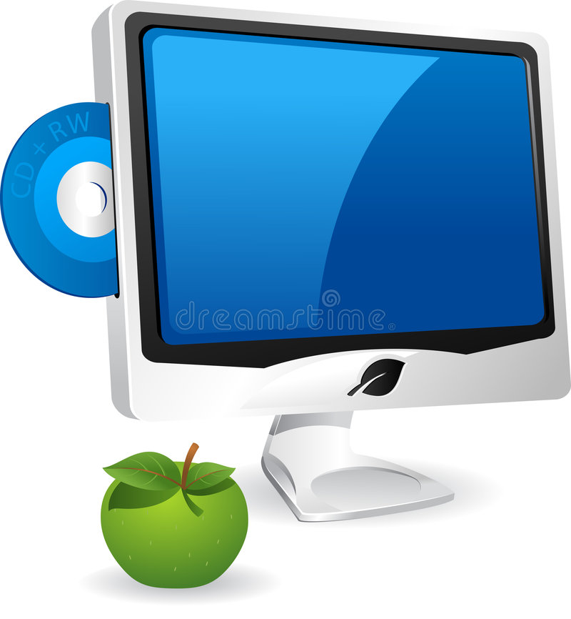 komputer apple ilustracja wektor