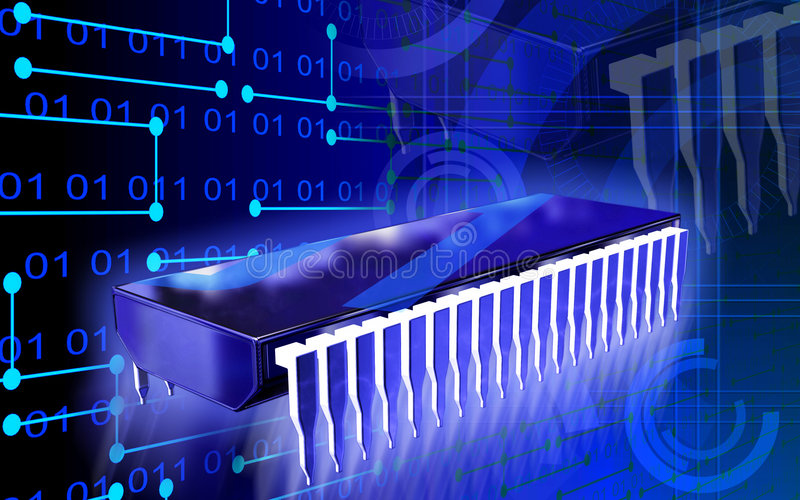 komputer chipa ilustracja wektor