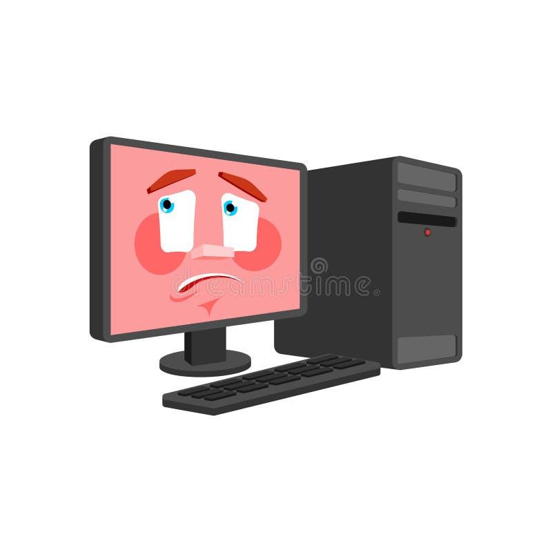 Komputer emocja odizolowywająca oops PECET wprawiać w zakłopotanie dane procesor zdumiony niespodzianka wektoru ilustracja royalty ilustracja