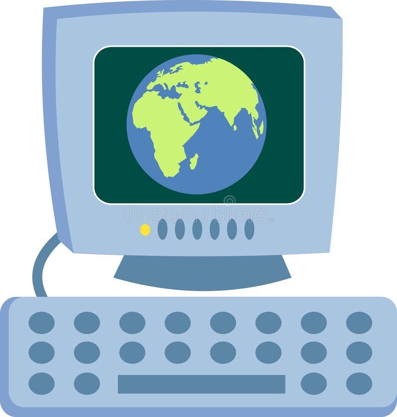 Download Komputer globalne ilustracja wektor. Obraz złożonej z wizerunek - 47871