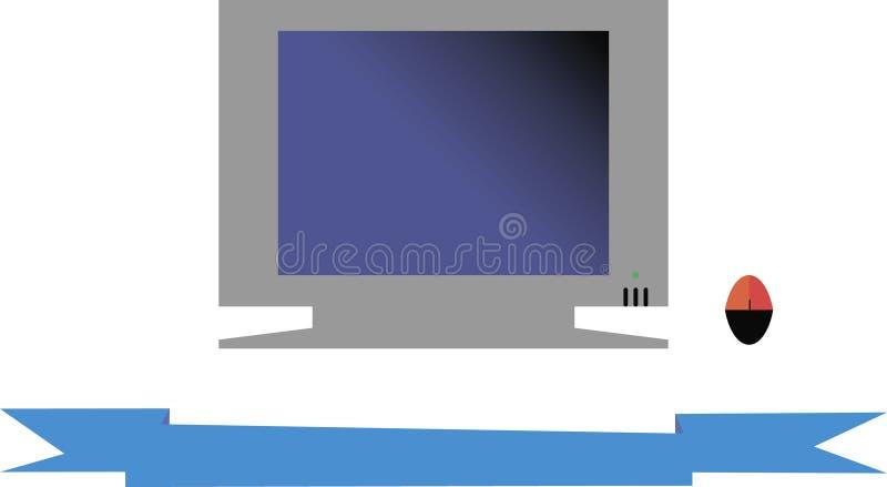 Komputer i taśma obraz royalty free